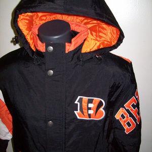 CINCINNATI BENGALS Starter KNOCKOUT Hooded Jacket